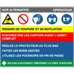 Fiche de poste Scie alternative