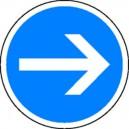 Panneau Sens obligatoire PVC avec pied Cl.T