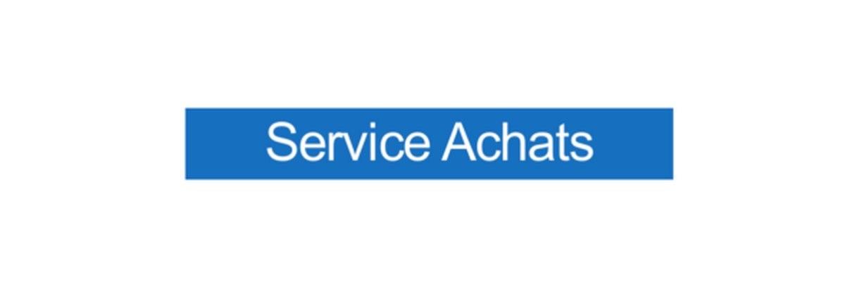 Panneau Service Achats