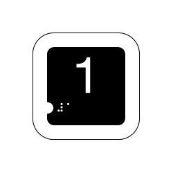 Panneau 1 (Numéro tactile)