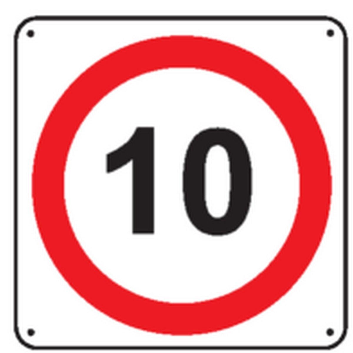 Panneau 10 Km/h Renforcé pour poteau