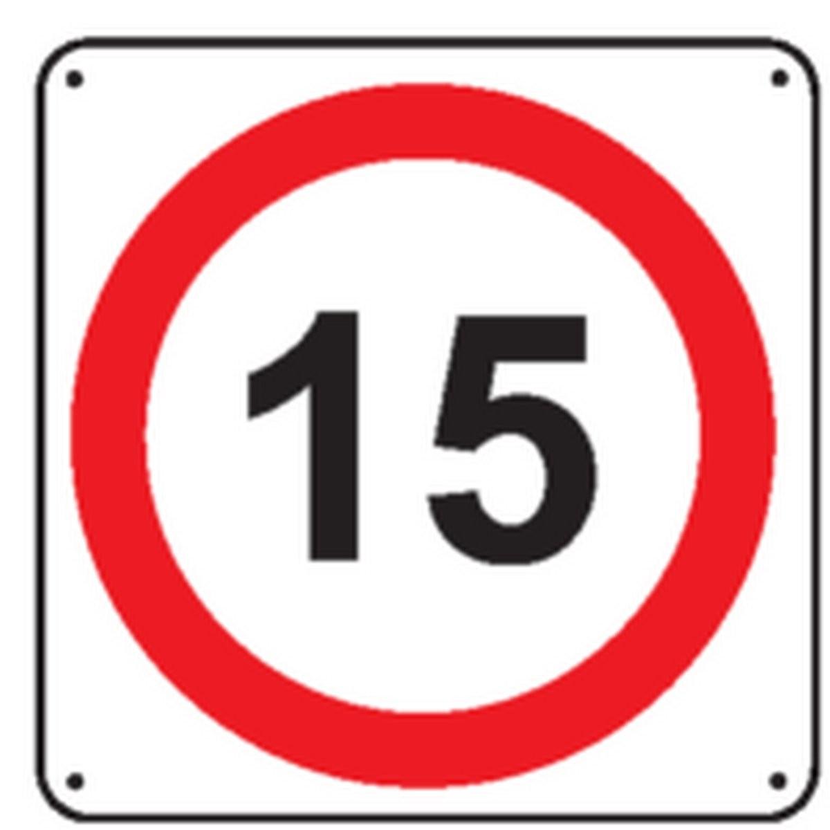 Panneau 15 Km/h Renforcé pour poteau