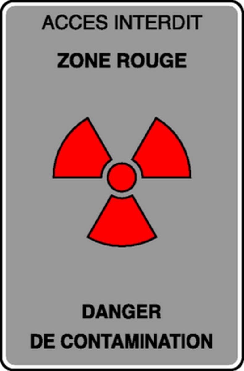 Panneau Accès interdit Danger de contamination