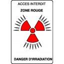 Panneau Accès interdit Danger d'irradiation