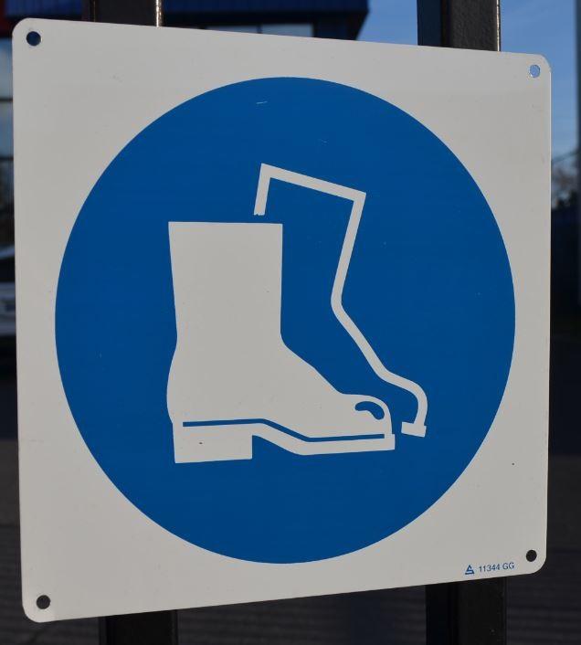 Panneau Chaussures de Sécurité Picto