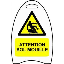 Chevalet Attention sol mouillé