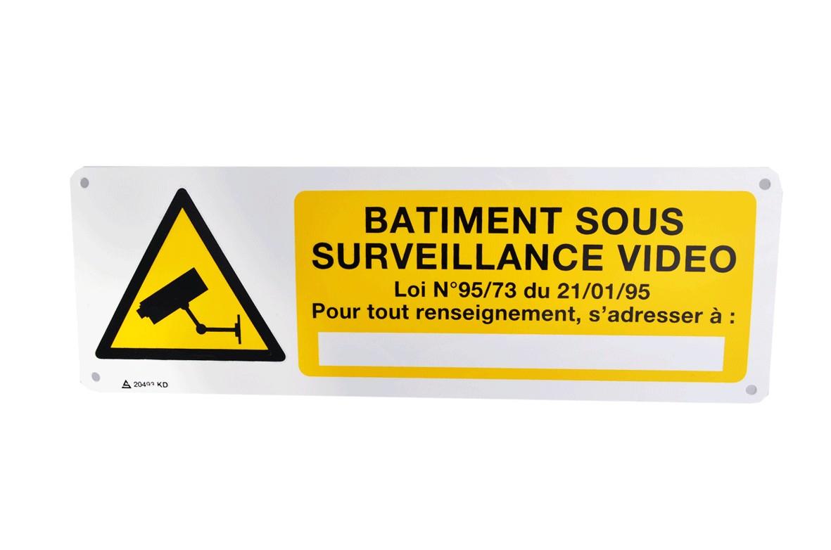 Panneau Batiment sous Surveillance Vidéo