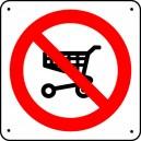 Panneau Chariot alimentaire interdit Picto