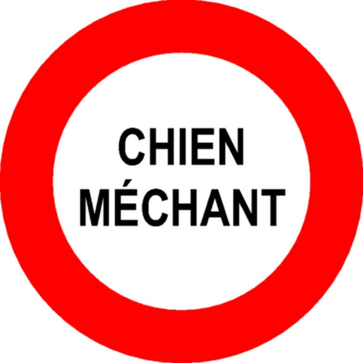 Panneau Chien Méchant