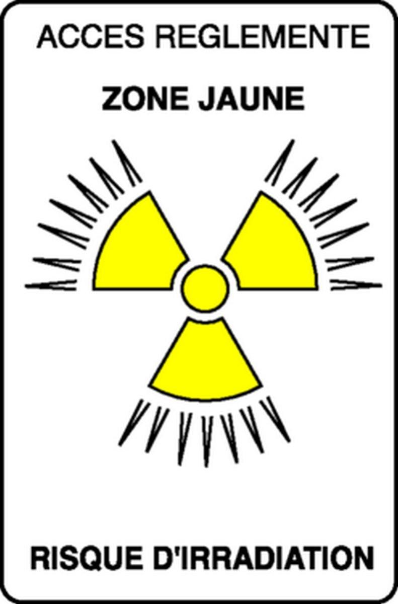 Panneau Accès réglementé Danger d'irradiation