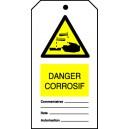 Etiquette Corrosif (Paquet de 10)