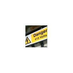 Panneau Danger 415 volts