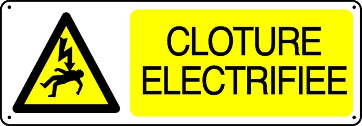 Panneau Danger Clôture Electrifiée