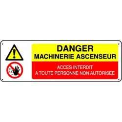 Panneau Danger Machinerie d'Ascenseur