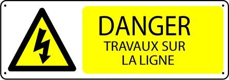 Panneau Danger Travaux sur la Ligne