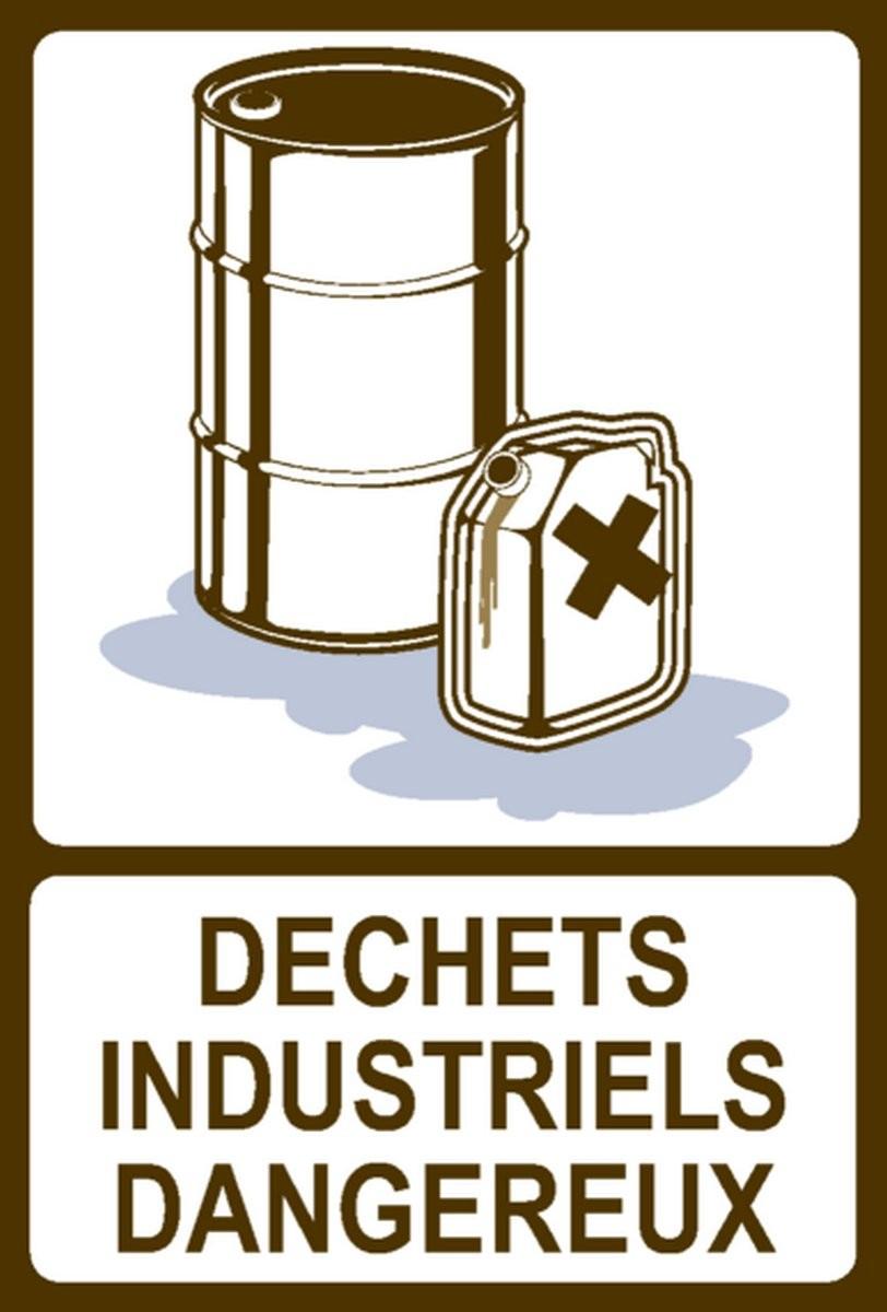 Panneau Déchets industriels dangereux