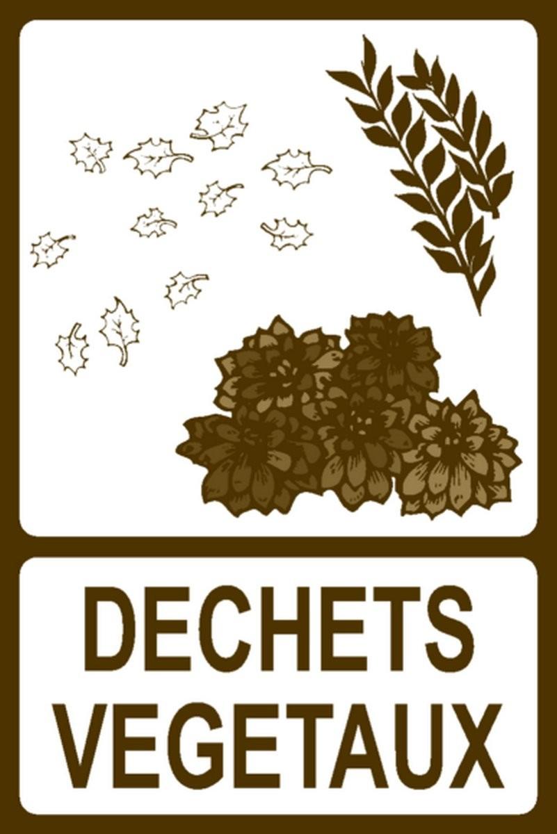 Panneau Déchets végétaux