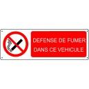Défense de Fumer dans ce véhicule