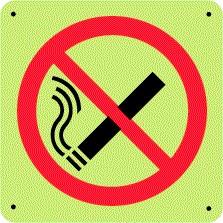 Panneau Défense de Fumer Photoluminescent Picto