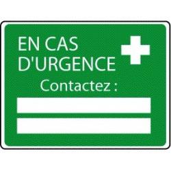 Panneau En Cas d'Urgence Contactez