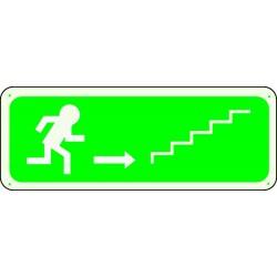 Panneau Escalier Flèche Droite Montée Photoluminescent