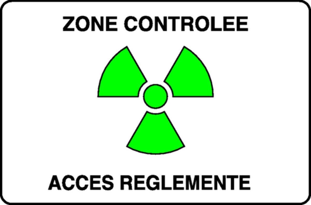 Panneau Zone contrôlée Accès règlementé