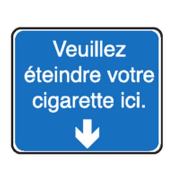 Panneau Veuillez 233 Teindre Votre Cigarette Ici Stocksignes