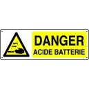 Danger Acide Batterie