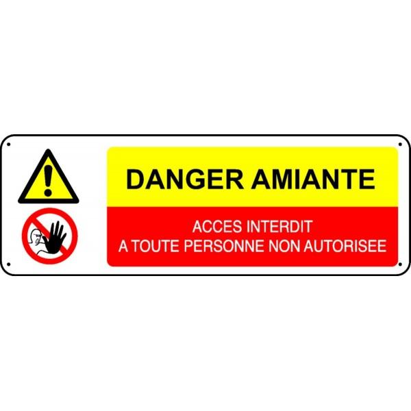 Panneau Danger Amiante Acc 232 S Interdit 224 Toute Personne Non