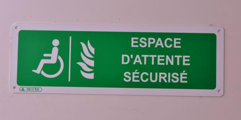 Pictogramme Espace d'attente sécurisé