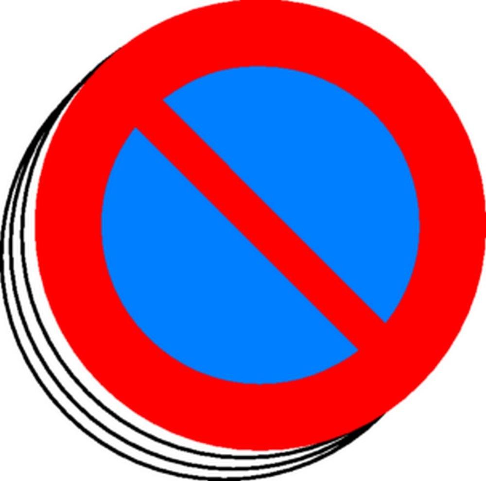 Etiquette Stationnement interdit (lot de 12)