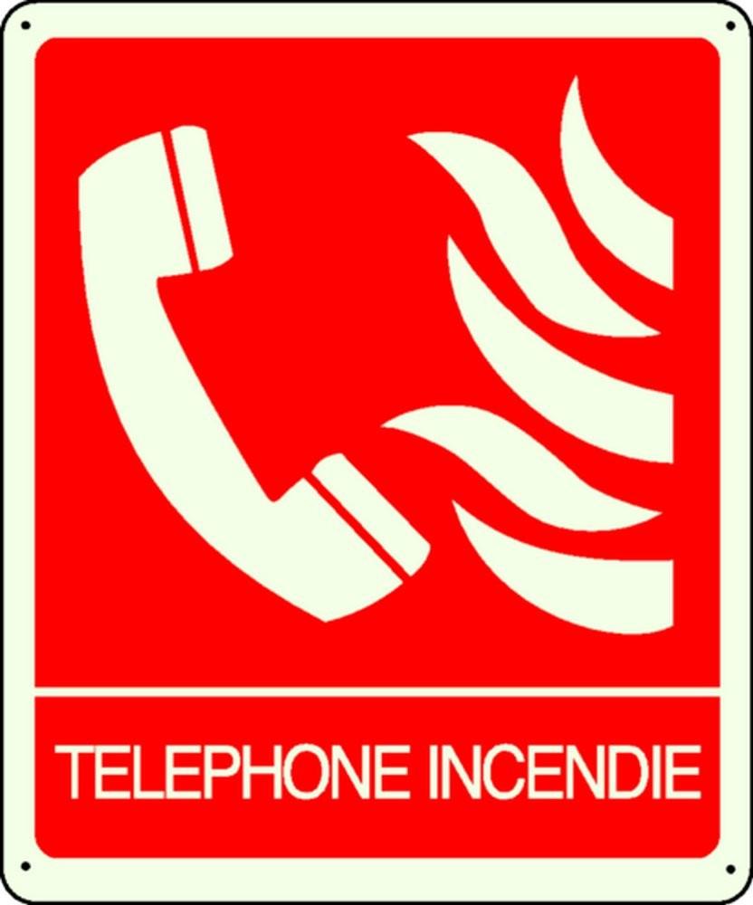 Panneau Téléphone Incendie Photoluminescent
