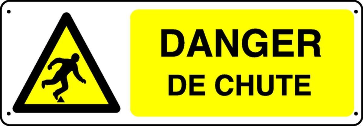Panneau Danger de chute