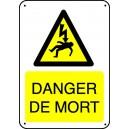 Panneau Danger de Mort