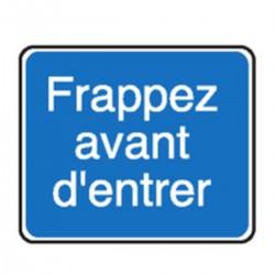 Panneau Frappez avant d'entrer