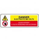 Danger Electricité 380 Volts Accès interdit...