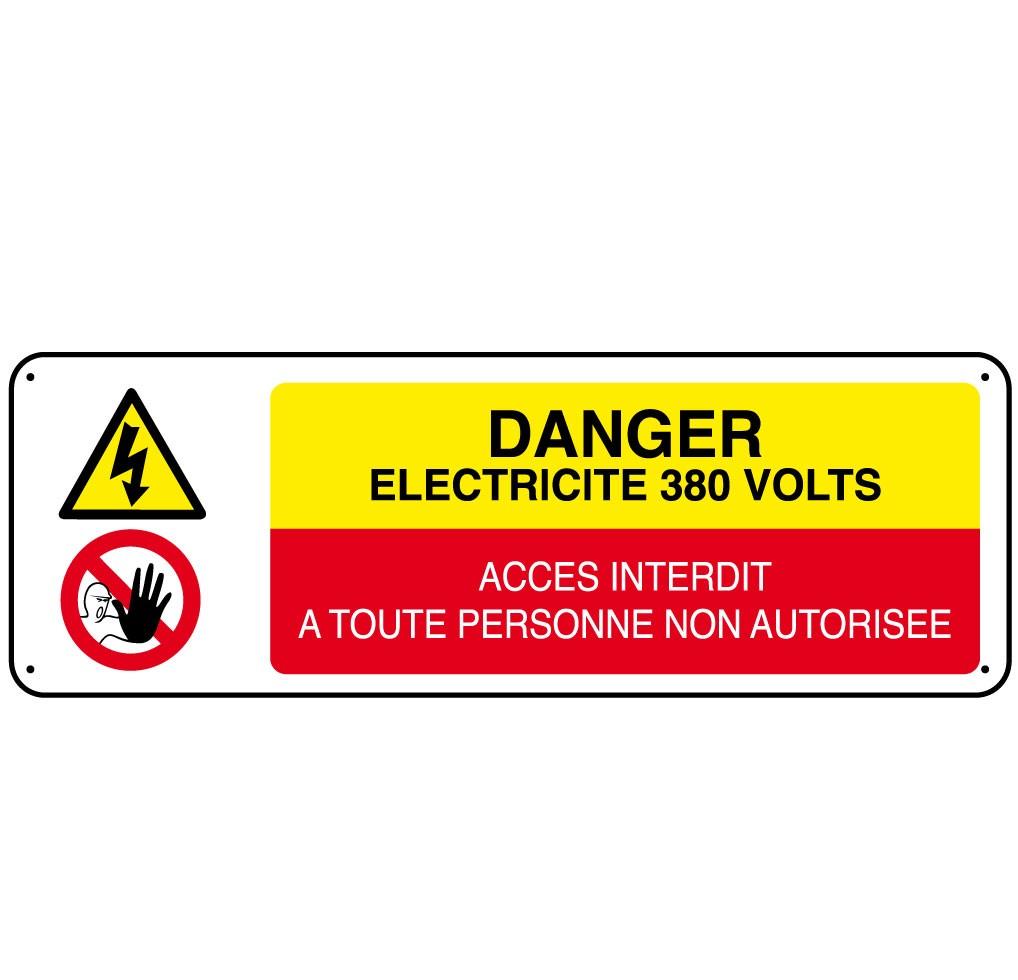 Panneau Danger Electricité 380 Volts