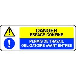 Panneau Danger espace confiné