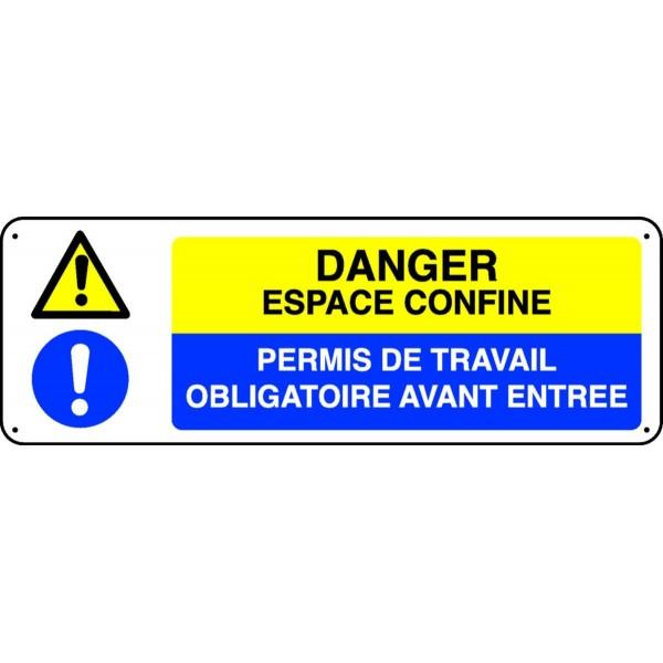 Panneau danger espace confin stocksignes for Permis de demolir obligatoire