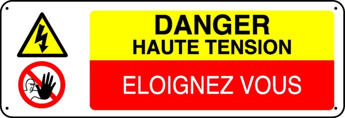 Panneau Danger Haute Tension Eloignez vous