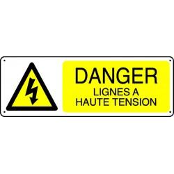 Panneau Danger Lignes à haute tension