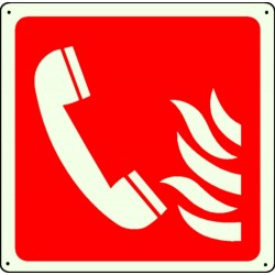 Panneau Telephone Incendie Picto Photolum.