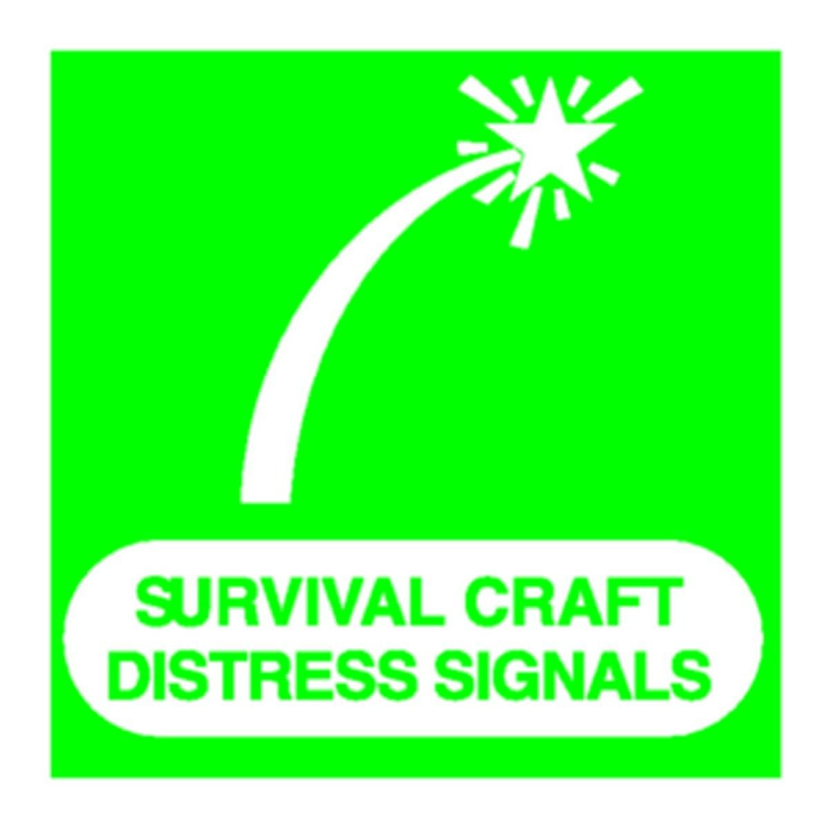 Panneau Survival Craft Distress Signals
