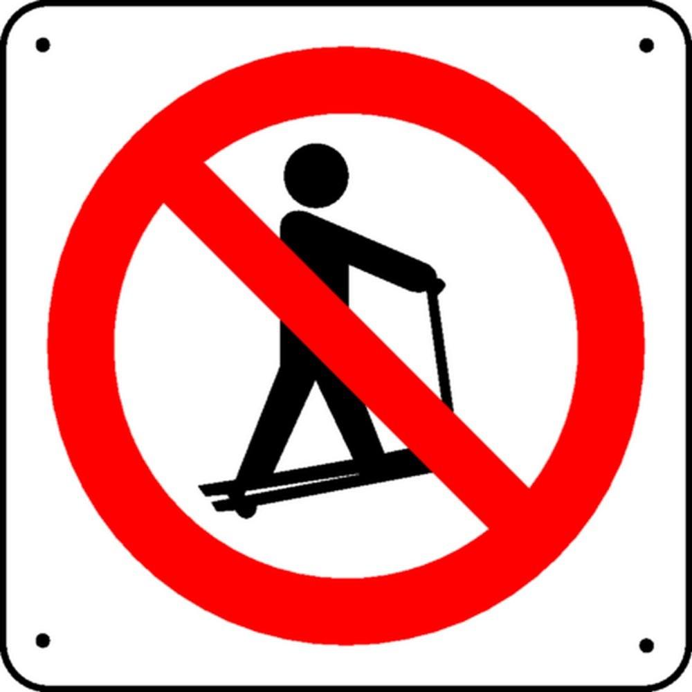 Panneau Interdiction de Monter sur Transpalette Picto