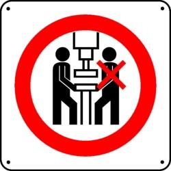Panneau Interdiction sur poste de travail