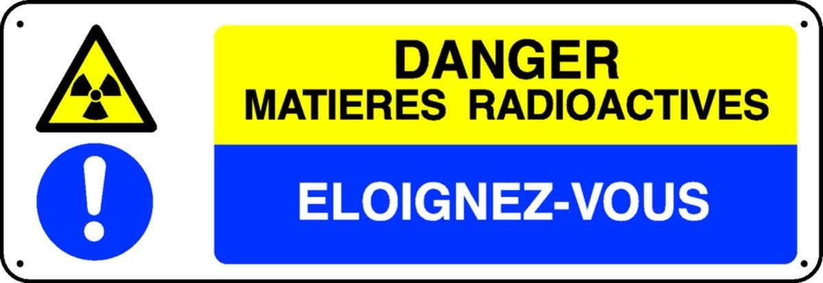 Le panneau de danger matières radioactives
