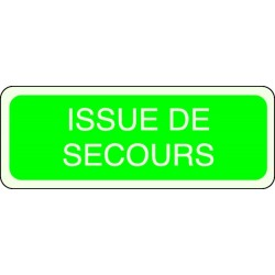 Panneau Issue de Secours Photoluminescent