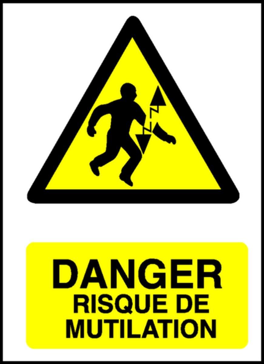 Panneau Danger Risque de Mutilation