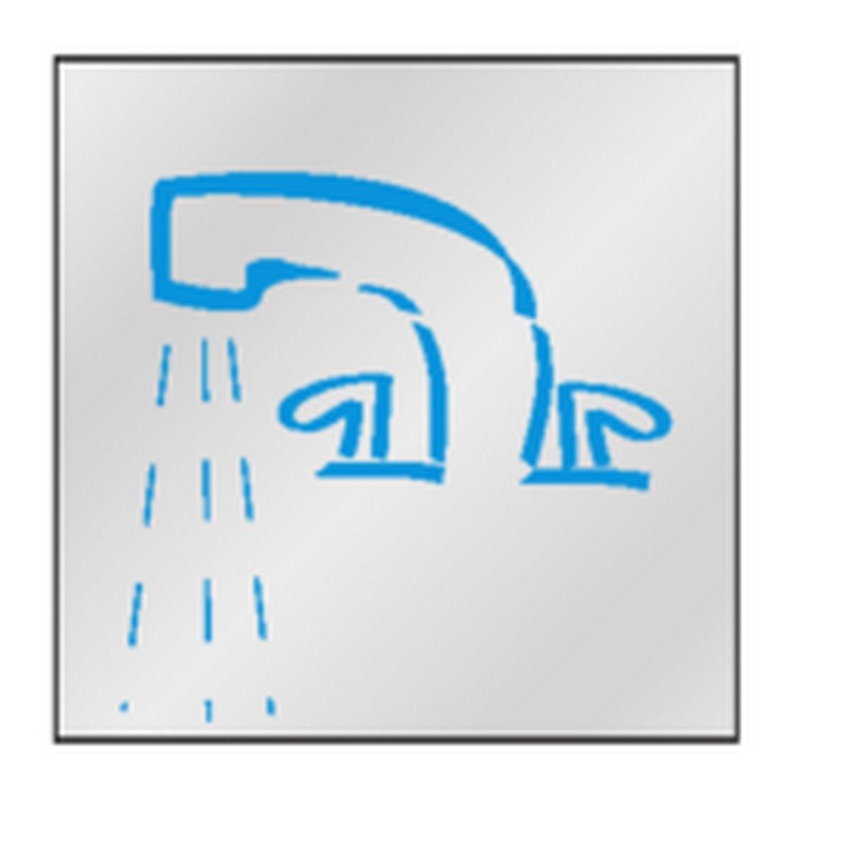 Panneau Salle d'eau / Salle de bains Picto