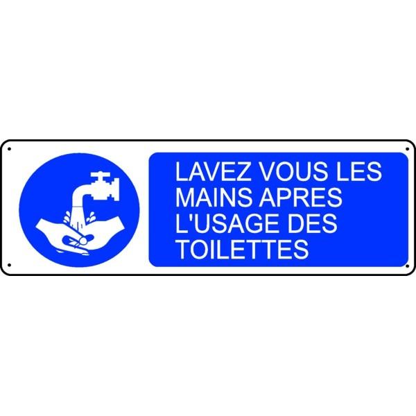 Panneau Lavez Vous Les Mains Apr 232 S L Usage Des Toilettes